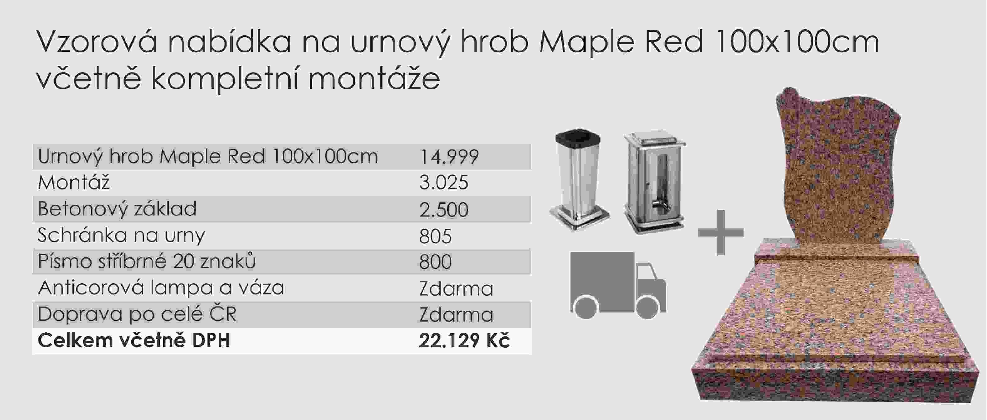 Vzorová nabídka Maple red