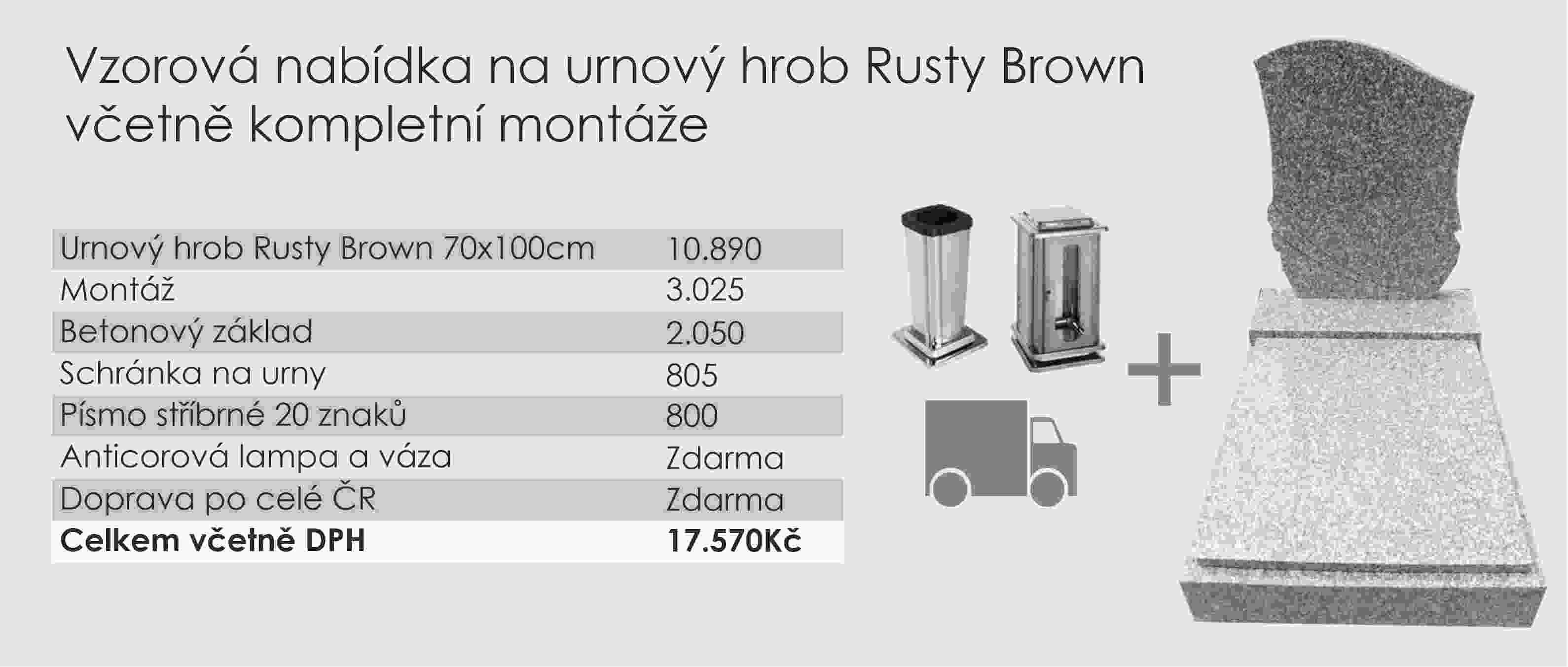Vzorová nabídka Rusty Brown